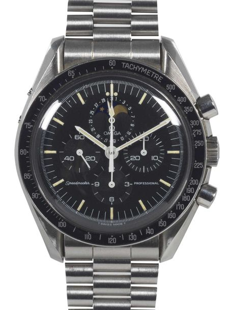 Omega SOLD-Omega Speedmaster Moonphase ST 345.0809 with Omega box and Extract of the Archive