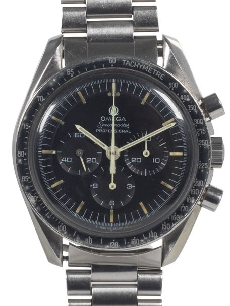 Omega SOLD-Omega Speedmaster 145.022-69 pre-moon with 220 bezel box and Extract of the Archive