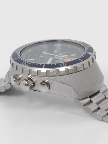 """Omega Omega Seamaster Automatic 120m Chronograph """"BIG BLUE"""" ST 176.004  with Extract of the Archive"""