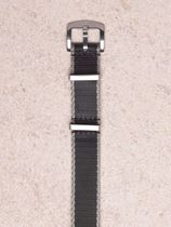 WRIST ICONS Black grey premium seatbelt nato