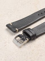 WRIST ICONS Black vintage watch strap