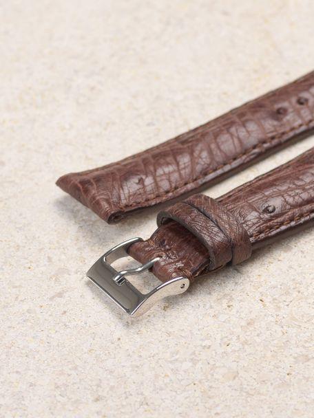 WRIST ICONS Brunette brown ostrich watch strap