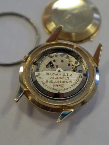 Bulova SOLD-Bulova cloisonné enamel fish dial by Marguerite Koch