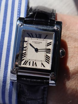 Cartier SOLD-Cartier Tank a Vis Platinum Collection Privee Cartier Paris (CPCP)