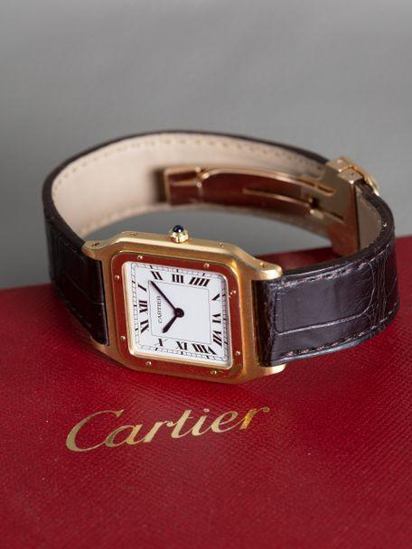 Cartier Cartier Santos Dumont Grande Modèle Or Jaune Ultra Flat 1575 boucle deployante