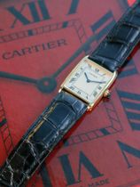 Cartier SOLD-Cartier Tank Arrondie Mecanique Extra-PLate Or Jaune