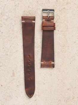 WRIST ICONS Cinghiale brown vintage watch strap