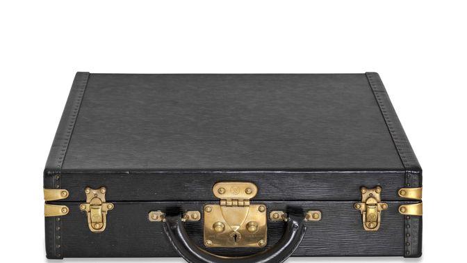 Louis Vuitton Custom Louis Vuitton black watch briefcase