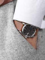 WRIST ICONS Fauve brown watch strap with two tone keepers