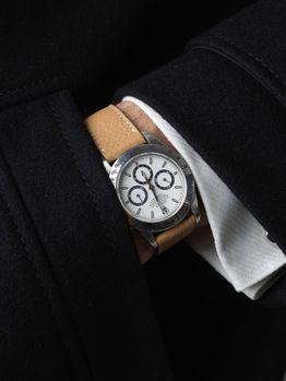 WRIST ICONS Forte dei Marmi sand Elegant watch strap with two tone keepers