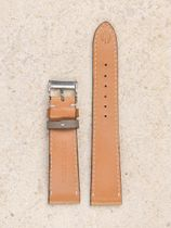 WRIST ICONS Forte dei Marmi sand Elegant watch strap with two tone keepers