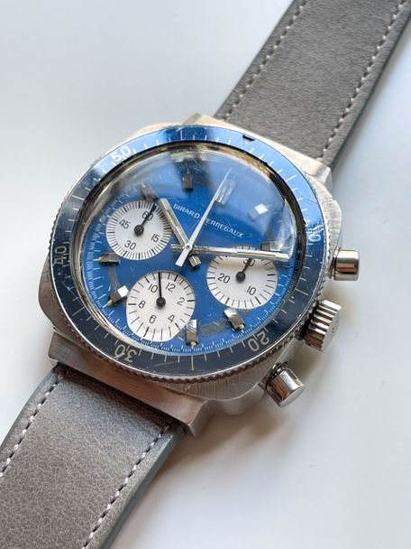 Rolex Girard-Perregaux chronograph from the 1970 with a denim blue dial  reference 9934