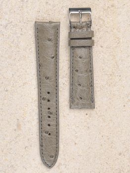 WRIST ICONS Grey taupe ostrich watch strap