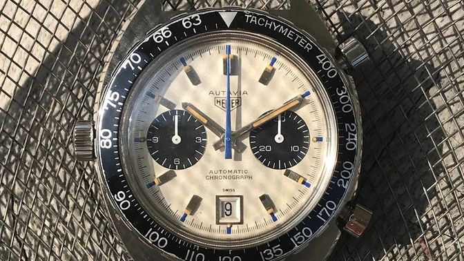 Heuer SOLD-Heuer 1163 T Siffert Autavia Mark 2 full set
