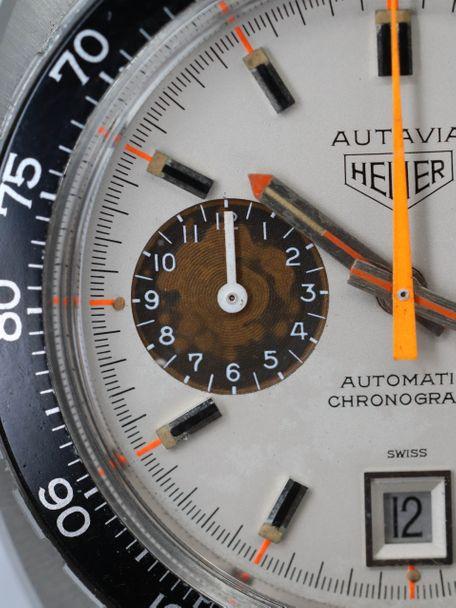 Heuer SOLD-Heuer Autavia 1163 White Orange Boy