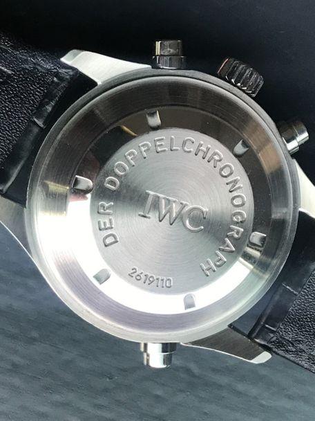 IWC SOLD-IWC 3711 Doppelchronograph original tritium IWC service Full Set