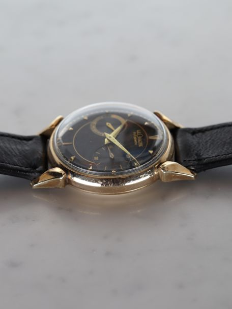 Jaeger Lecoultre Jaeger-LeCoultre Futurematic 10k gold filled black dial