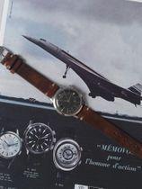 Jaeger Lecoultre SOLD-Jaeger-LeCoultre Memovox steel black gilt dial E855