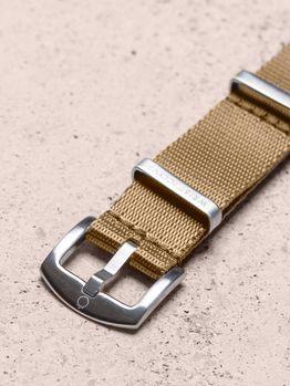 WRIST ICONS Khaki premium seatbelt nato