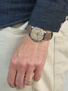 Lemania 105 oversized chronograph caliber 1275