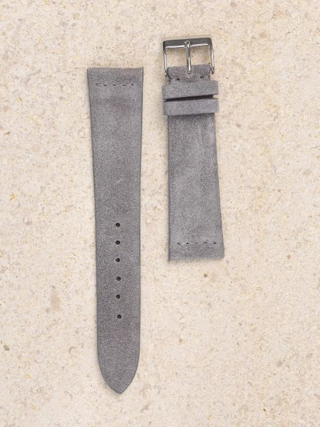 WRIST ICONS Nardo grey suede watch strap