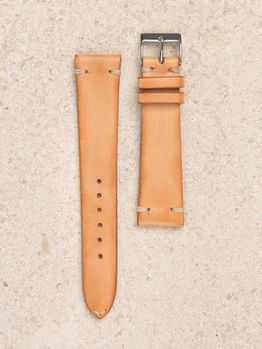 WRIST ICONS Natural tanned  vintage watch strap
