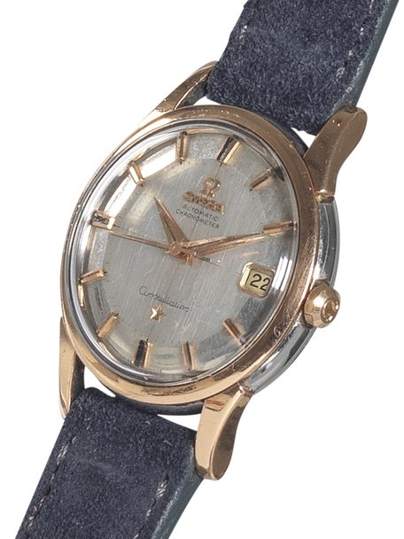Omega Constellation Calendar silver mirror dial rose gold/steel case date 1961