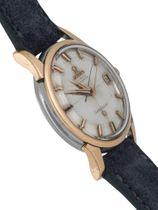 Omega Constellation Calendar silver mirror dial rose gold/steel case date 1961
