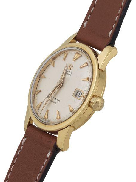 Omega SOLD-Omega Seamaster Calendar 2849 solid gold