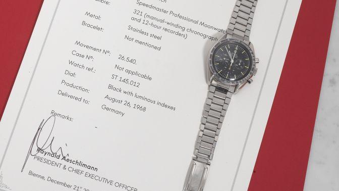 Omega Omega Speedmaster 145.012-67 delivered in Germany
