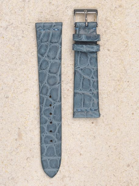 WRIST ICONS PAN AM blue Alligator watch strap