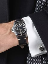 WRIST ICONS Rich Black Alligator watch strap