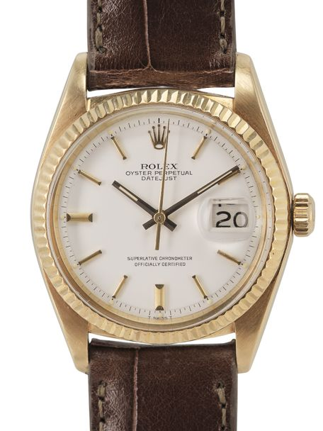 Rolex Rolex Datejust 1601 yellow gold  white dial 1973
