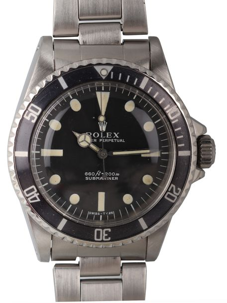 Rolex SOLD-Rolex Oyster Perpetual Submariner reference 5513 1971 1 non serif dial