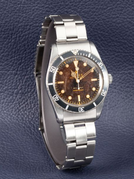 Rolex Rolex Submariner reference 6536-1 from 1957 with a gilt dial