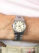 Rolex SOLD-Rolex Datejust 16220 cream Roman dial