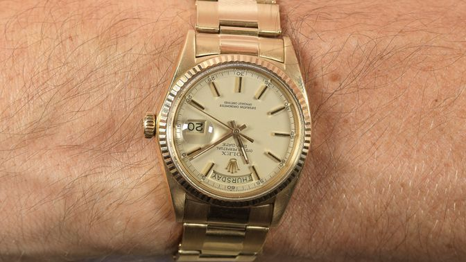 Rolex Rolex Day Date 1803 pie-pan dial with riveted Oyster bracelet
