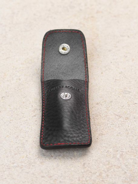 Signature black and red leather mini spring bar tool
