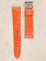 WRIST ICONS TOTAL FOOTBALL orange  Alligator watch strap