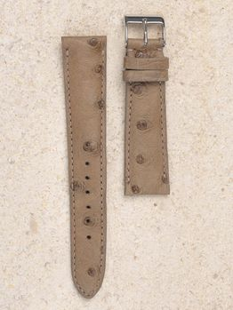 WRIST ICONS Warm taupe ostrich watch strap